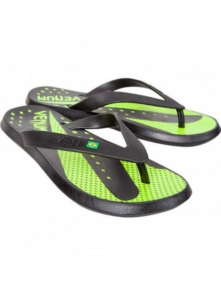 Вьетнамки Venum Hurricane Sandals Black Green