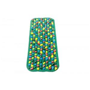 """Коврик-дорожка массажный с цветными камнями  """"Ортопед"""" 100*40 см + запасные камушки"""