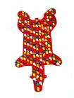 """Коврик-дорожка массажный """"Ортопед"""" Медведь (94*50 см) + запасные камушки"""