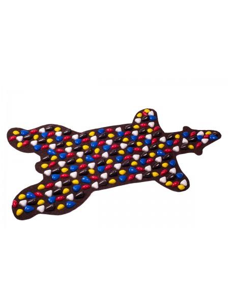 """Коврик-дорожка массажный """"Ортопед"""" Медведь (100*50 см) + запасные камушки"""