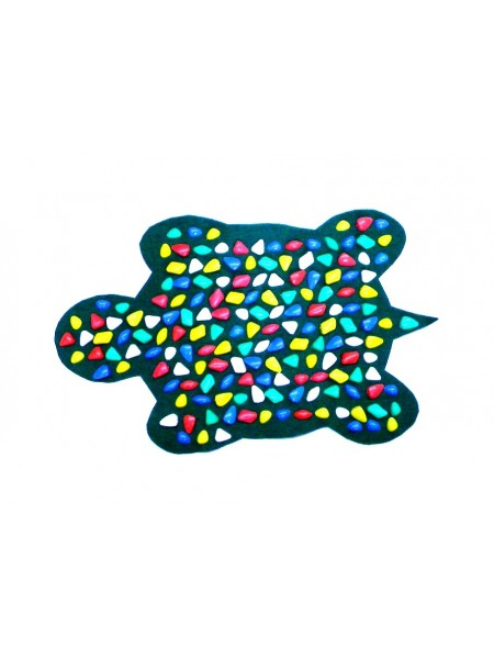 """Коврик-дорожка массажный """"Ортопед"""" Черепаха (80*50 см) + запасные камушки"""