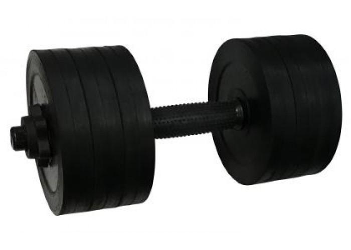 Гантель обрезиненная стальная Newt PL 18,5 кг