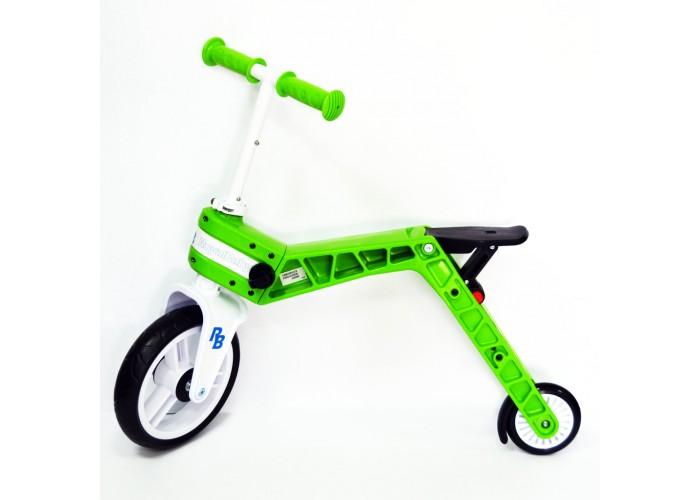 Беговел-самокат детский Real Baby, зеленый