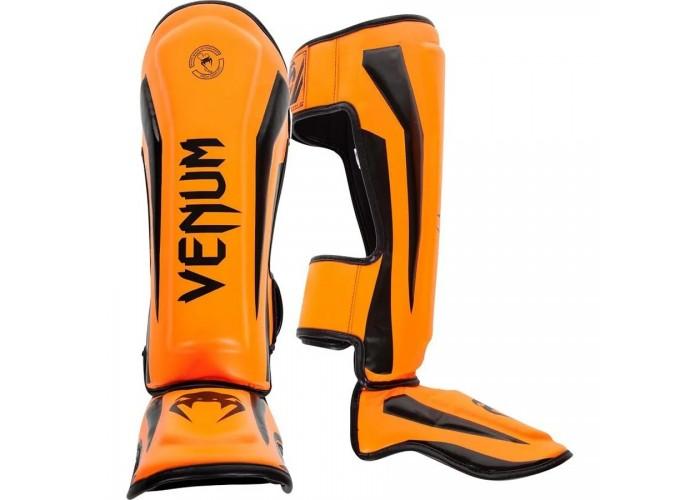 Защита голени Venum Elite Standup Shinguards Neo Orange