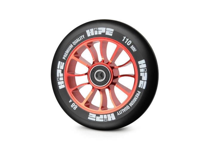 Колесо для трюкового самоката Hipe H01 110мм, red/black