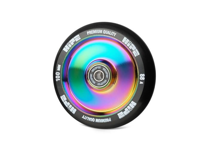 Колесо для трюкового самоката Hipe H05 100мм, neo-chrome/black