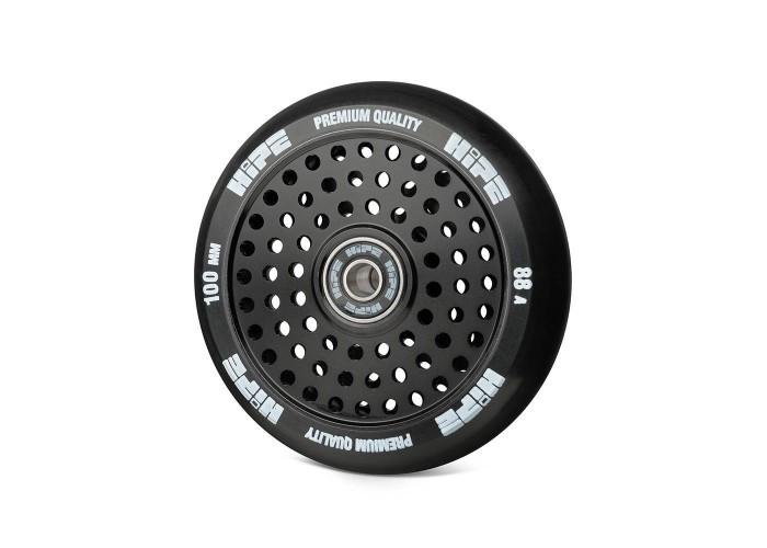 Колесо для трюкового самоката Hipe H20 Hollow 100мм, black/black