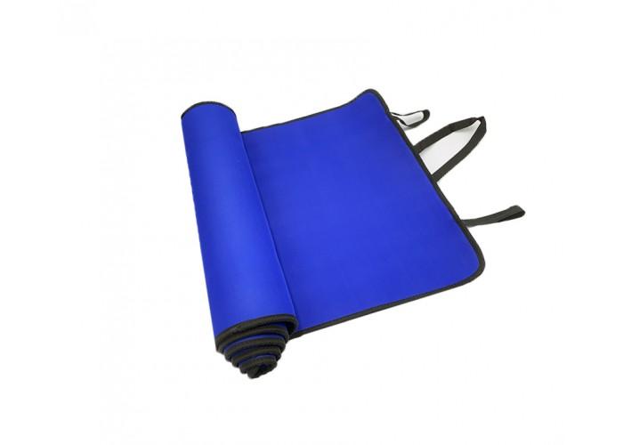 Коврик для фитнеса (йога-мат) со стяжками Newt EVA Carry 6 мм, синий
