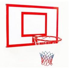 Щит баскетбольный металлический Newt Jordan с кольцом и сеткой 1000х670мм
