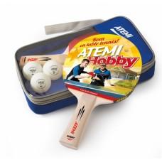 Набор настольного тенниса Atemi HOBBY (2р+3м+чехол)