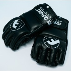 Перчатки MMA Free-Fight Gloves Black c защитой пальца (4 унции)