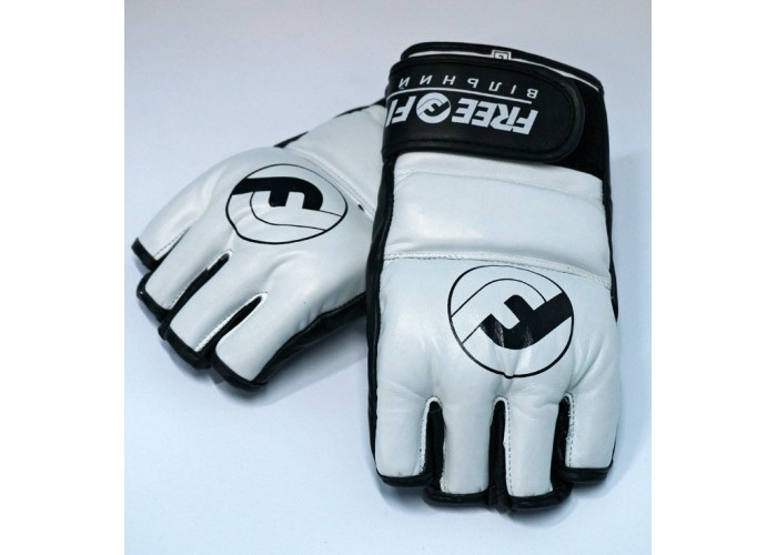 Перчатки MMA Free-Fight Gloves White c защитой пальца (4 унции)