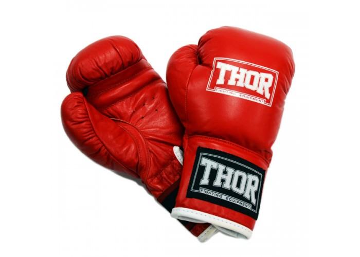 Боксерские перчатки детские THOR JUNIOR (Leather) RED