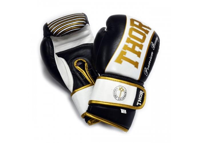 Боксерские перчатки THOR THUNDER (Leather) BLK
