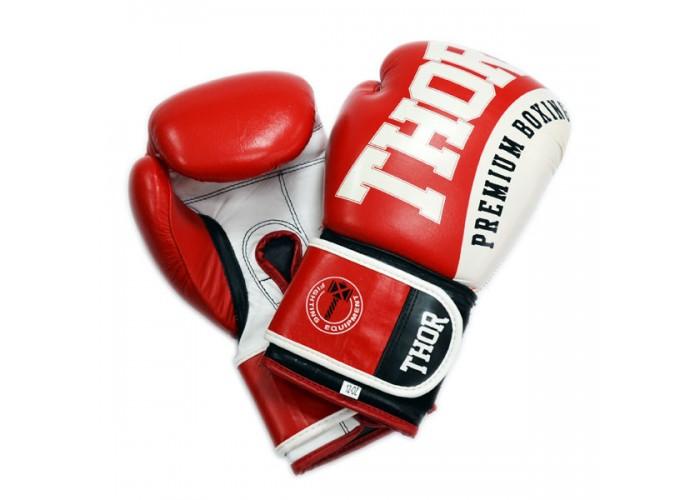 Боксерские перчатки THOR SHARK (Leather) RED