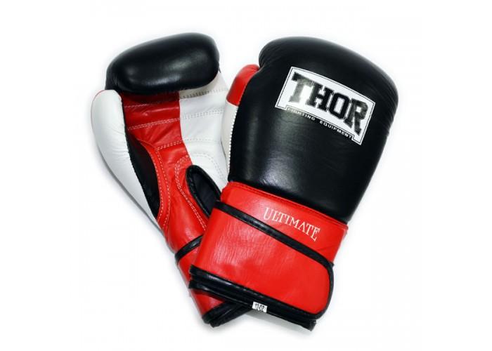 Боксерские перчатки THOR ULTIMATE(Leather)W/B/R
