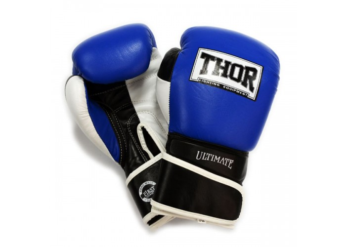 Боксерские перчатки THOR ULTIMATE(Leather)B/B/W