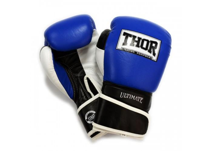 Боксерские перчатки THOR ULTIMATE(PU)B/BL/WH
