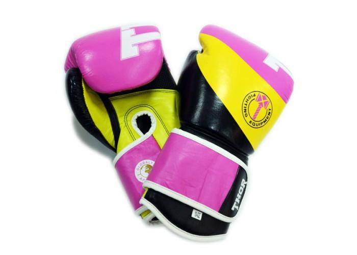 Боксерские перчатки женские THOR KING POWER(PU)BLK/PINK
