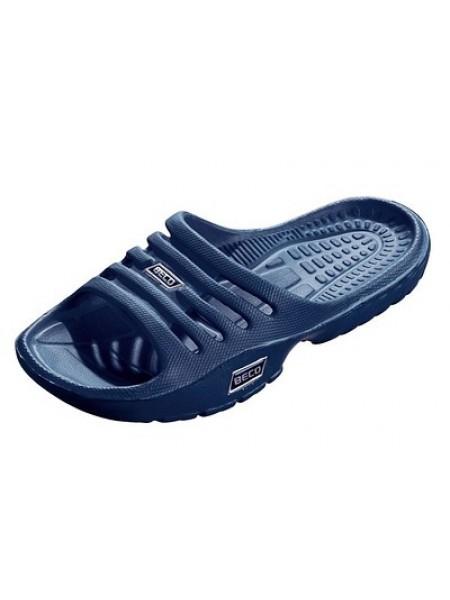 Тапочки пляжные детские BECO 90651 7 тёмно-синий