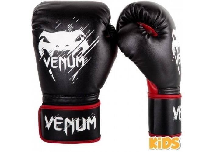 Детские боксерские перчатки Venum Contender Kids Boxing Gloves Black