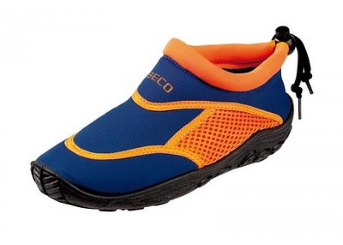 Тапочки для серфинга и плавания детские BECO 92171 63 синий/оранжевый