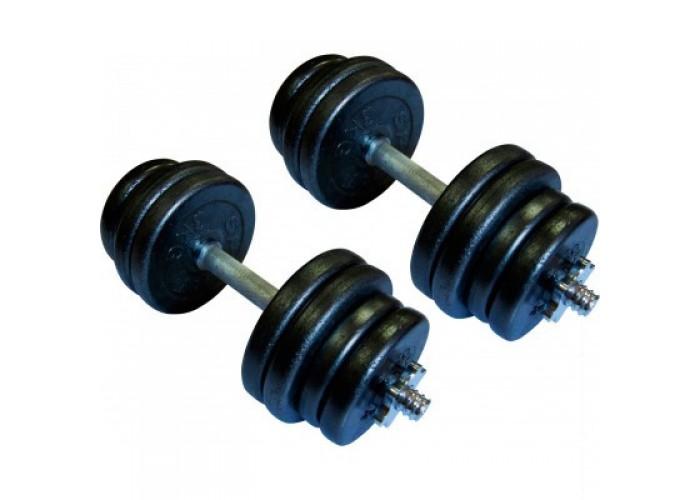 Гантели наборные стальные Newt Home 2 шт по 21,5 кг