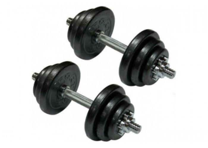 Гантели наборные стальные Newt Home 2 шт по 13,5 кг