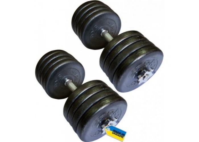 Гантели наборные стальные NEWT Home 2 шт по 42 кг