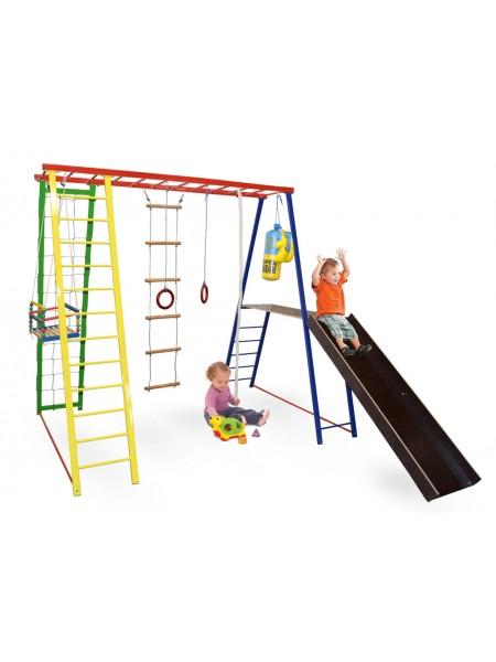Детский спортивный игровой комплекс Sport Baby Plus с горкой 145/127/130