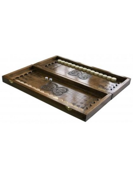 Нарды деревянные ручной работы Newt Backgammon 2