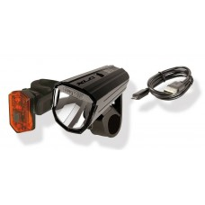 Комплект фара + мигалка XLC CL-S17 'Alderaan'