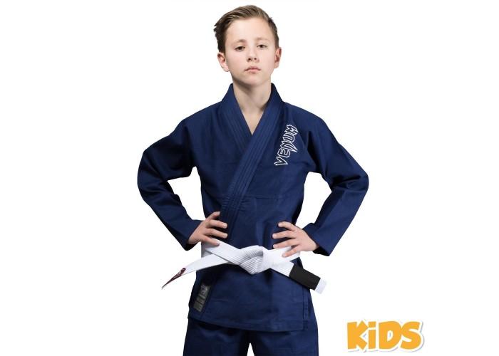 Детское кимоно Venum Contender Kids BJJ Gi Navy Blue