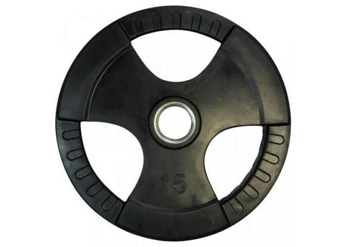 Диск олимпийский обрезиненный с хватами Newt Olimpic 15 кг