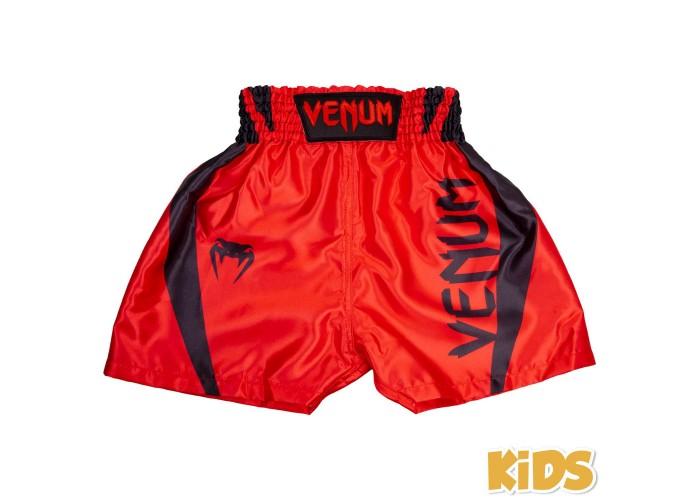 Детские шорты для бокса Venum Elite Boxing Shorts Red Black