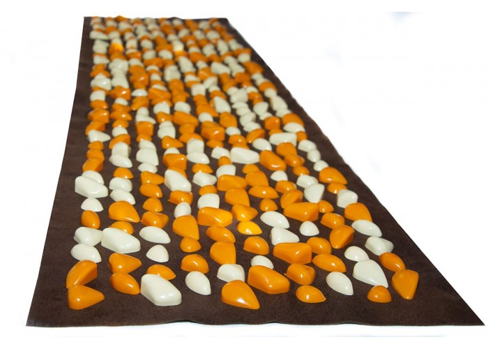 Коврик с камушками DECO – Lamor 140х40 см (коричневая основа)