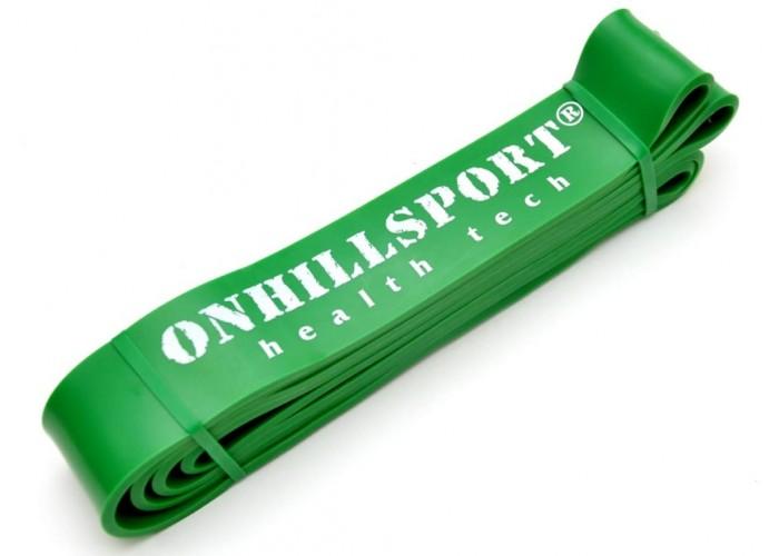 Латексная петля для фитнеса 2080мм (ширина 45 мм, зеленая, 19-56 кг)
