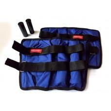 Утяжелители на руки и ноги регулируемые 2х7 кг, синий (груз 1000/500 г – 12/4 шт., металл)