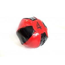 Медицинский мяч 4 кг, черно-красный