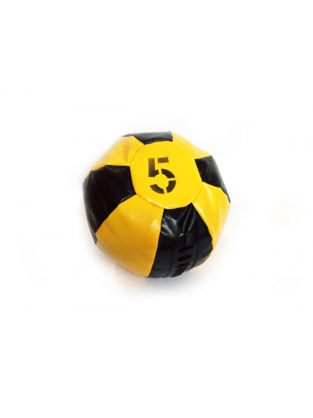 Медицинский мяч 5 кг, черно-желтый