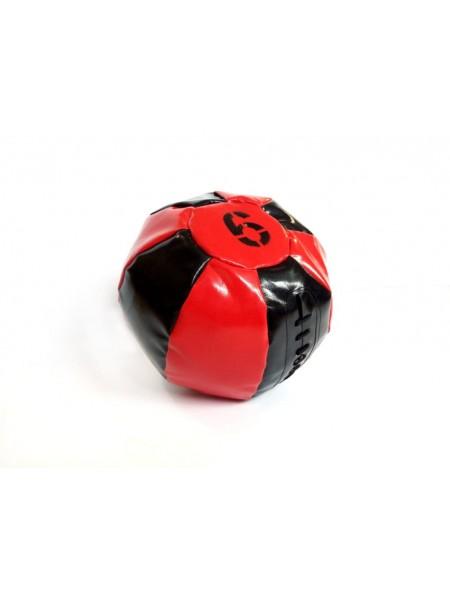 Медицинский мяч 6 кг, черно-красный