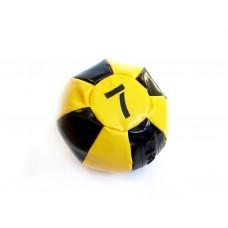Медицинский мяч 7 кг, черно-желтый