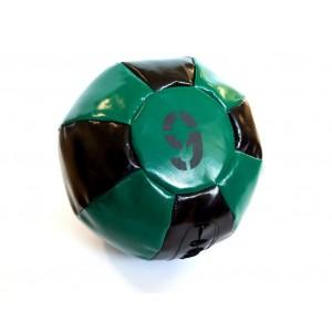 Медицинский мяч 9 кг, черно-зеленый