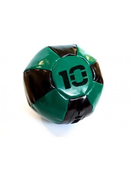 Медицинский мяч 10 кг, черно-зеленый