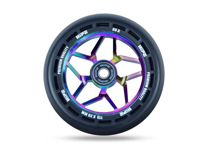 Колесо для трюкового самоката Hipe LMT12 115мм, Black/Neo chrome