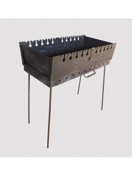 Мангал разборной двухуровневый на 6 шампуров (мангал-чемодан)