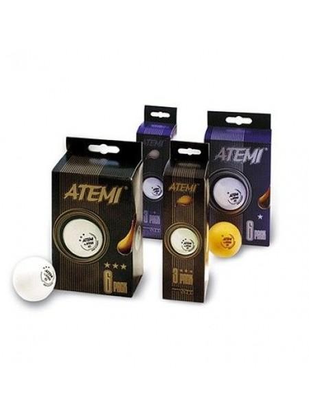 Мячики для настольного тенниса ATEMI * 6 штук белые