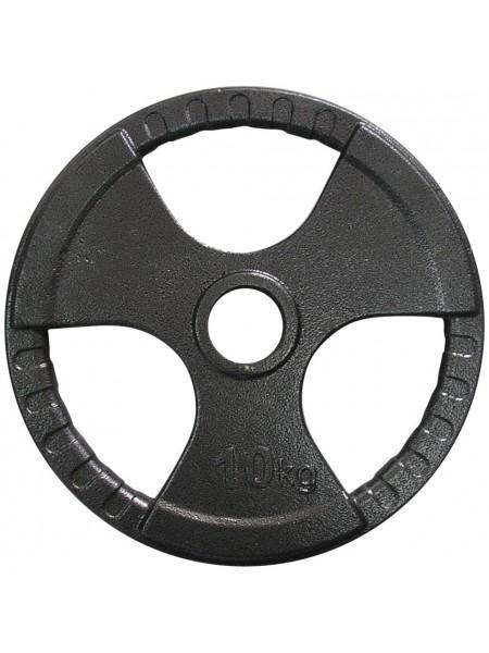 Диск тяжелоатлетический с хватами Newt 10 кг