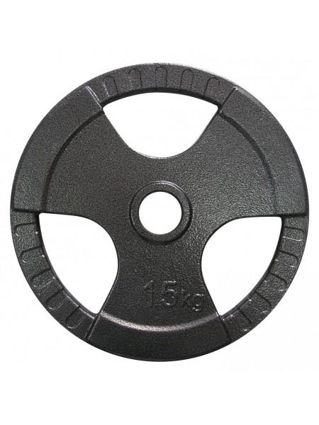 Диск тяжелоатлетический с хватами Newt 15 кг