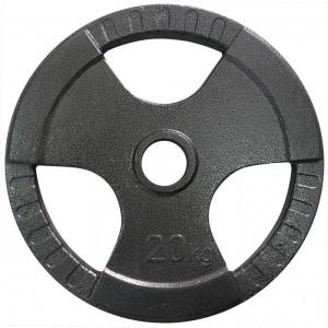 Диск тяжелоатлетический с хватами Newt 20 кг